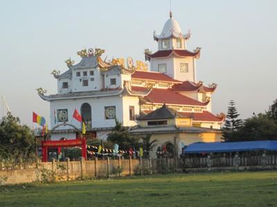 Họ đạo cao đài chơn lý xã Song Bình đón nhận danh hiệu 'cơ sở thờ tự văn hóa '